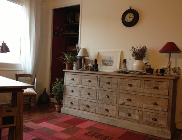 Photos meuble industriel et meuble scandinave en situation for Bureau cocooning