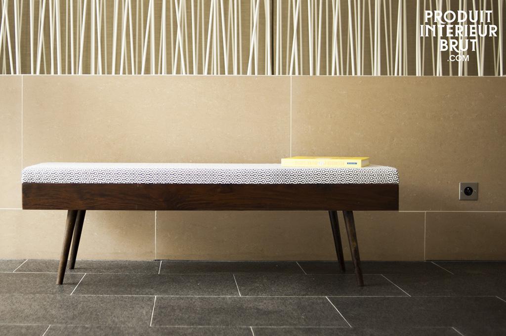 banc londress design retro une assise deux places esprit scandinave r tro. Black Bedroom Furniture Sets. Home Design Ideas