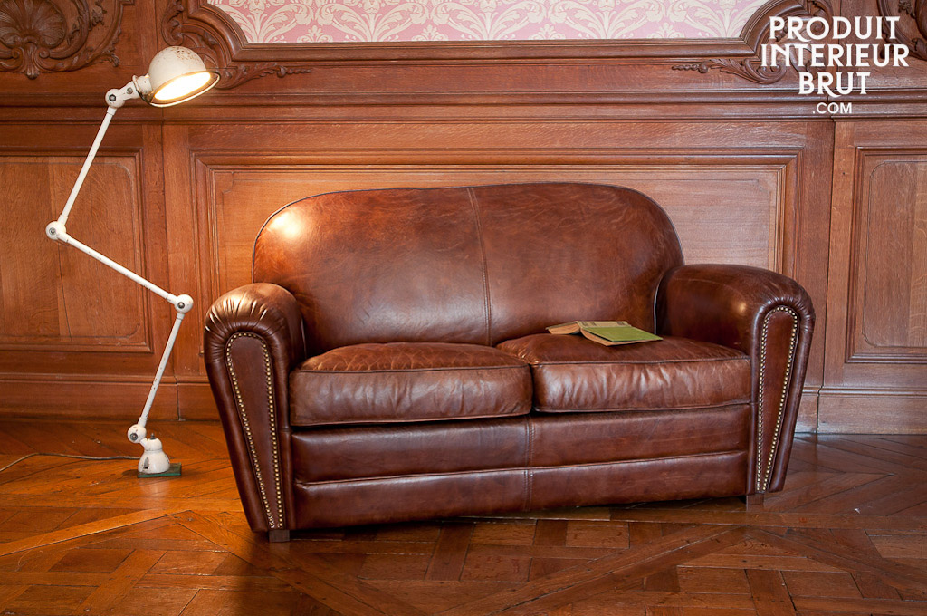 Canap cigar club style vintage le style unique d 39 un double club en cuir vieilli - Canape club en cuir ...