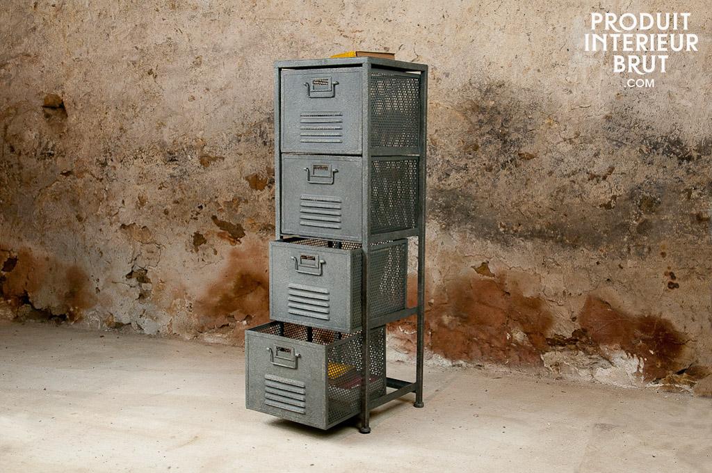 Colonne m tallique 4 tiroirs hanjel - Colonne metallique rangement ...