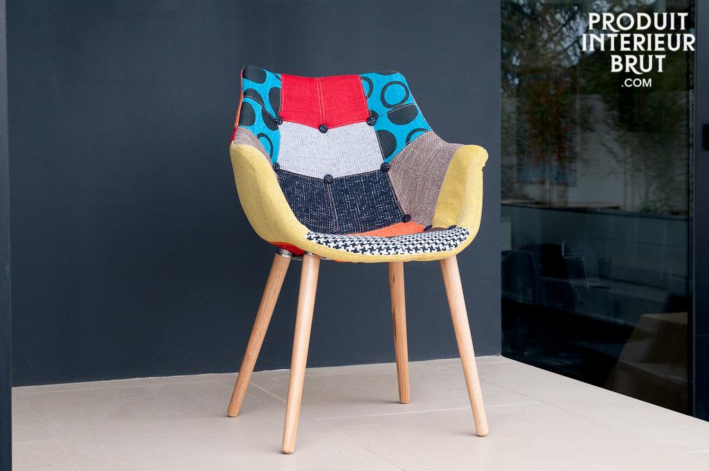 fauteuil n o patchwork l 39 association r ussie d 39 une ligne vintage et d 39 un rev tement original. Black Bedroom Furniture Sets. Home Design Ideas