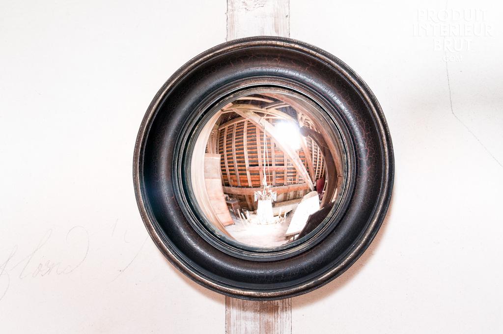 miroir magellan un petit miroir oeil de boeuf en bois et. Black Bedroom Furniture Sets. Home Design Ideas