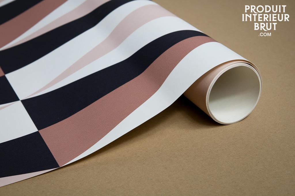 papier peint skive rose un papier peint au style vintage. Black Bedroom Furniture Sets. Home Design Ideas