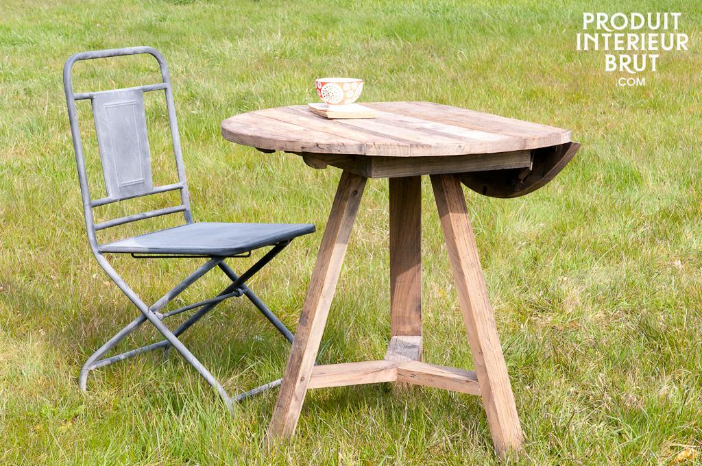 table rabats en orme ancien une table pratique qui pourra aussi faire office de console. Black Bedroom Furniture Sets. Home Design Ideas