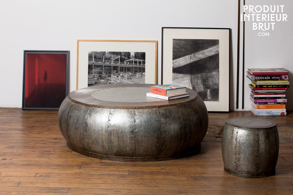 Meuble cuisine bois et zinc meuble cuisine zinc maison du for La redoute meubles de cuisine