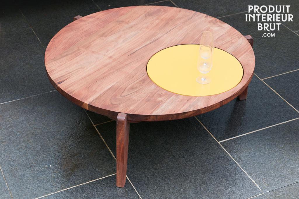 table basse stockholm tripode jaune une touche de. Black Bedroom Furniture Sets. Home Design Ideas
