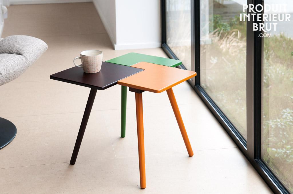 table d 39 appoint tridy style scandinave une petite table puzzle haute en couleur. Black Bedroom Furniture Sets. Home Design Ideas