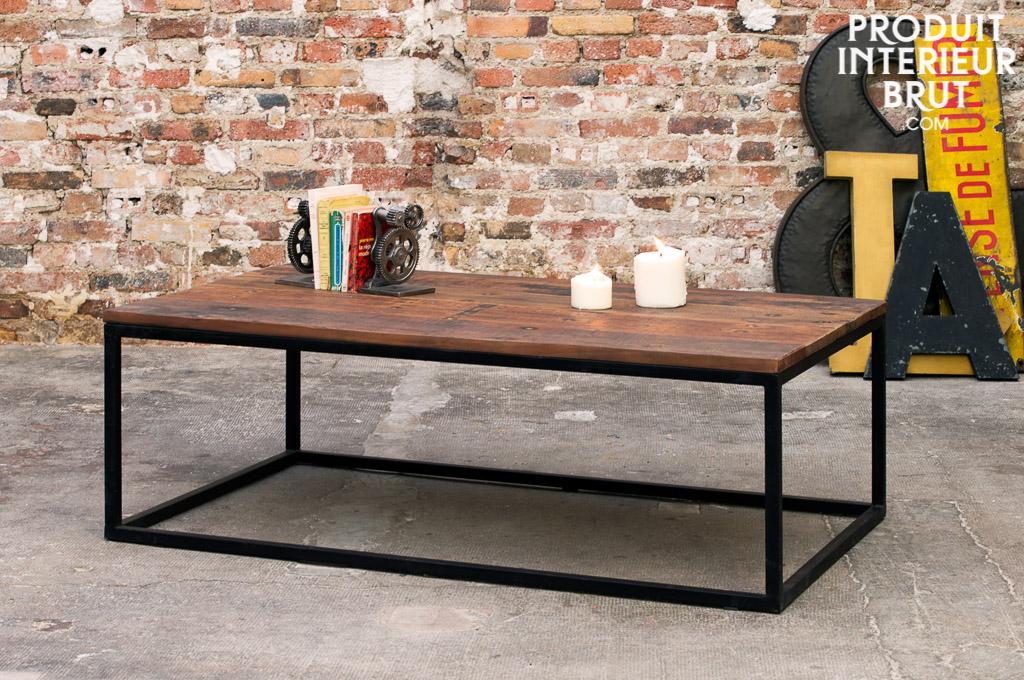 Table basse new soho bois massif ancien et grand format for Table basse grand format
