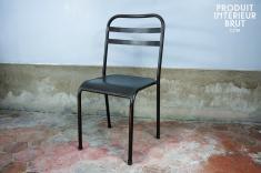 Hanjel : Chaise métallique empilable brune