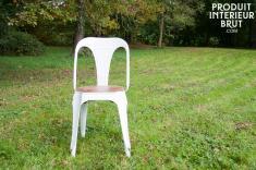 Chaise Multipl's blanche - bois