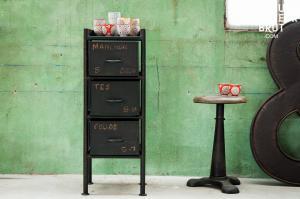 Hanjel : Commode d'atelier 3 tiroirs