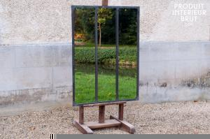 Chehoma : Miroir d'atelier à cadre métallique