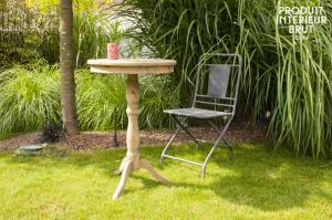 Hanjel : Table en bois ancien Adèle