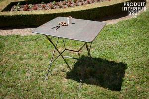 Chehoma : Table pliante style vintage