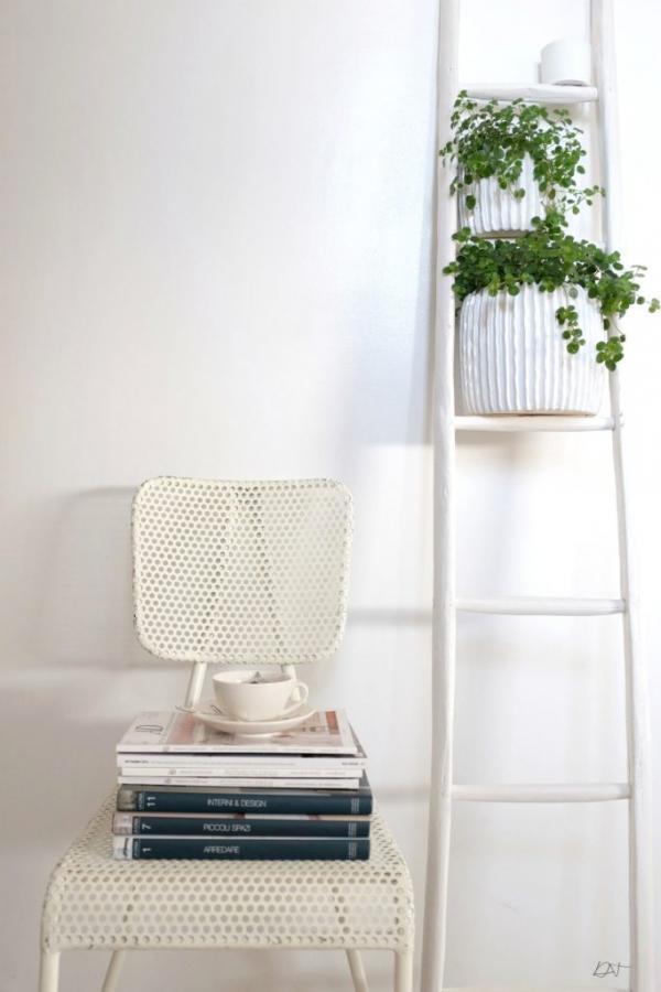 Chaise blanche Métalo