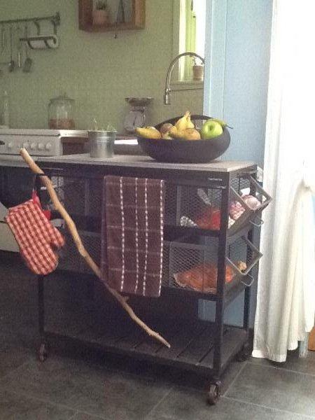 Photos meuble industriel et meuble scandinave en situation - Ma cuisine bleue ...