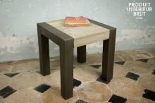 TABLE D'APPOINT EN TECK RECYCLÉ