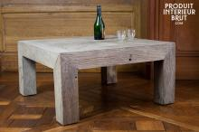TABLE BASSE CHARPENTE