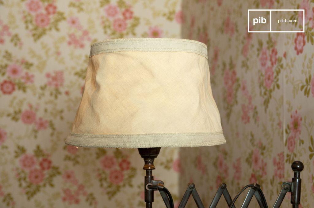 abat jour victoria beige 25cm toile de coton pib. Black Bedroom Furniture Sets. Home Design Ideas