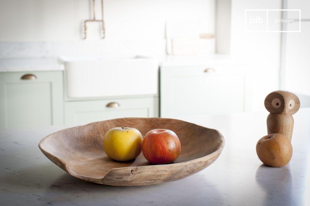 assiette en teck bali bois naturel en vide poche pib suisse. Black Bedroom Furniture Sets. Home Design Ideas