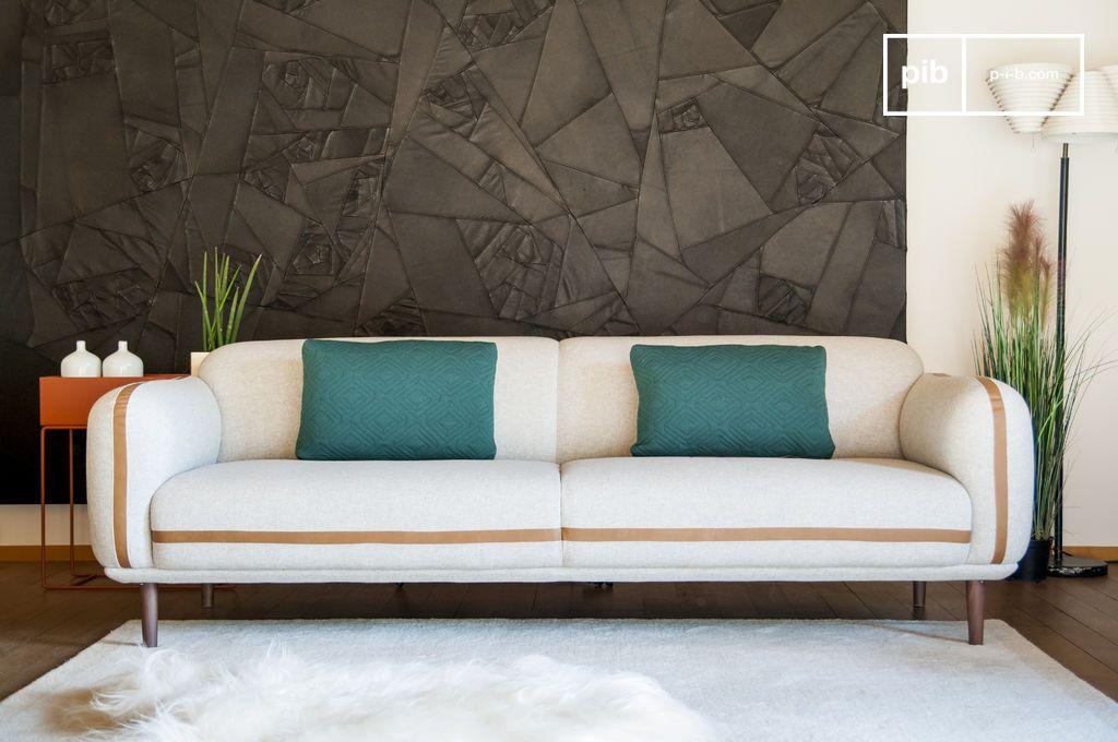 canap 3 places britta grande taille et esprit r tro pib. Black Bedroom Furniture Sets. Home Design Ideas