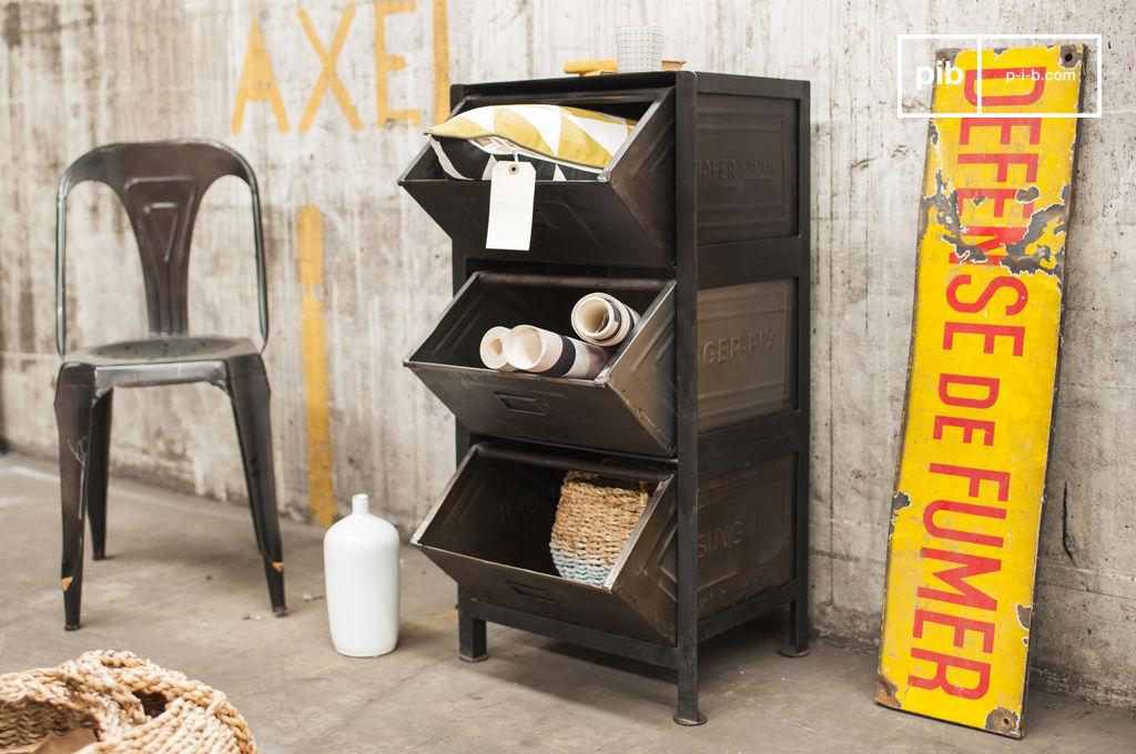 commode style loft warhos un meuble grands tiroirs pib. Black Bedroom Furniture Sets. Home Design Ideas