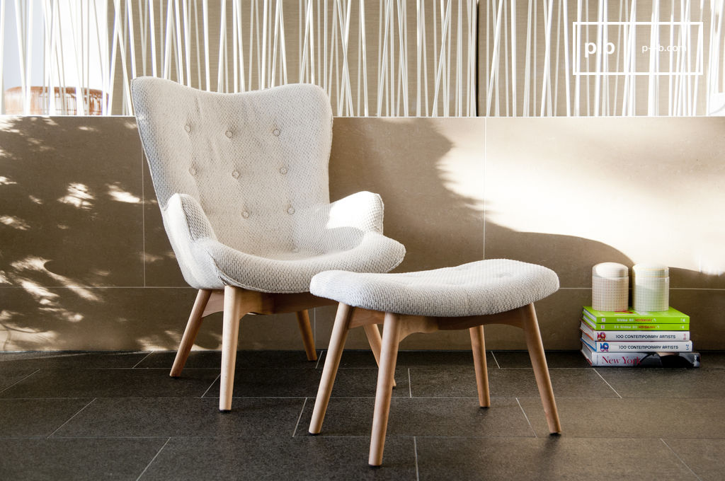 fauteuil colombine repose pied inclus trois coloris pib. Black Bedroom Furniture Sets. Home Design Ideas