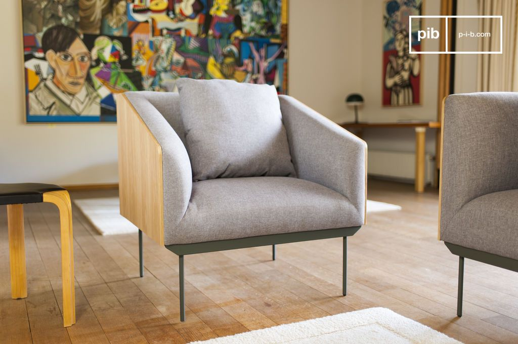 fauteuil scandinave jackson suspendu sur pieds fins pib. Black Bedroom Furniture Sets. Home Design Ideas