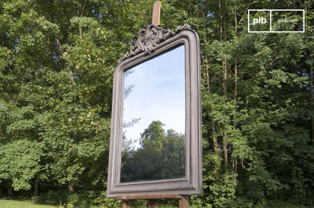 grand miroir senlis a fixer au mur ou poser en trumeau pib. Black Bedroom Furniture Sets. Home Design Ideas