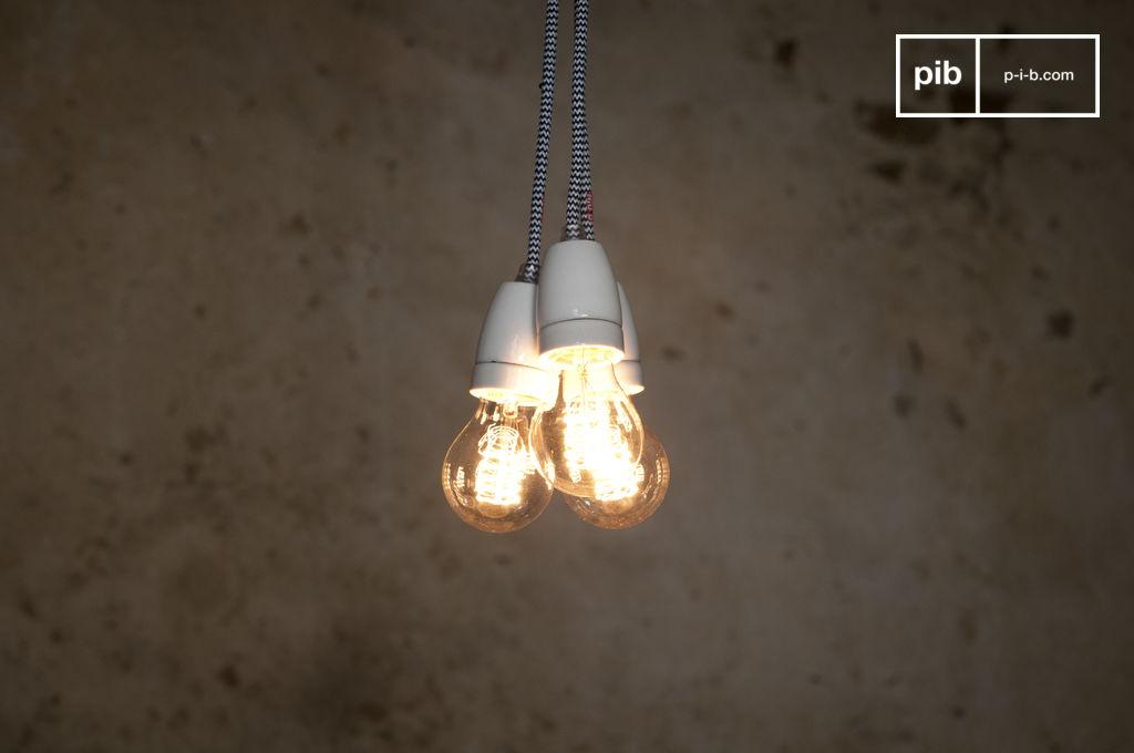 Lampe suspendue porcelaine nud pib for Lampe suspendue