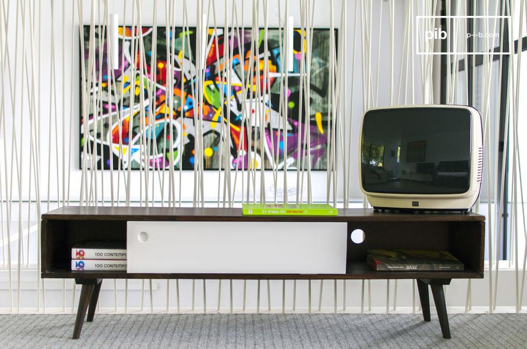 Meuble TV Vintage Brown\'n White - Esprit vintage | pib