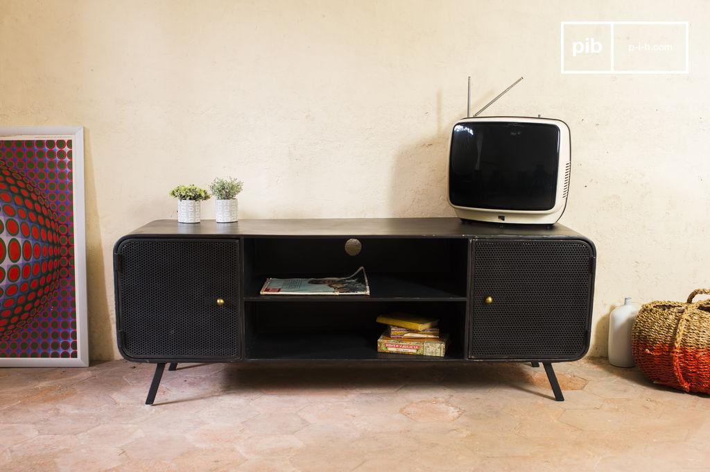 Meuble tv minoterie conception m tallique 50 39 s pib for Meuble tv 50