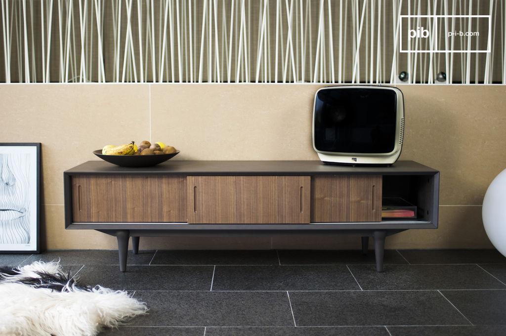 meuble tv scandinave en bois moderne et l gant pib. Black Bedroom Furniture Sets. Home Design Ideas
