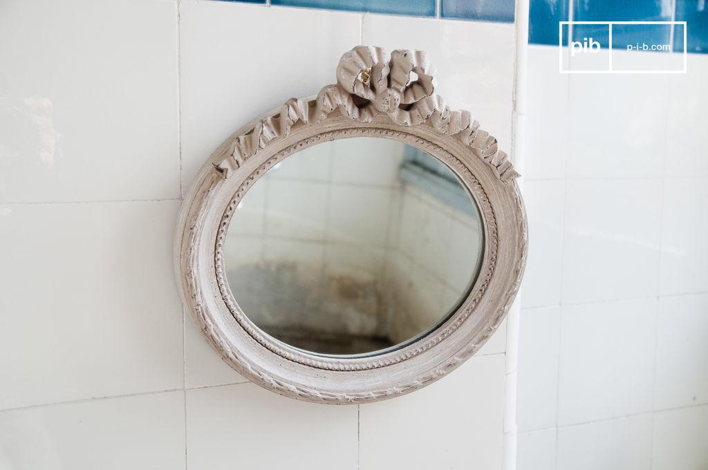 Miroir justine un petit miroir patin plein de charme pib for Miroir petit