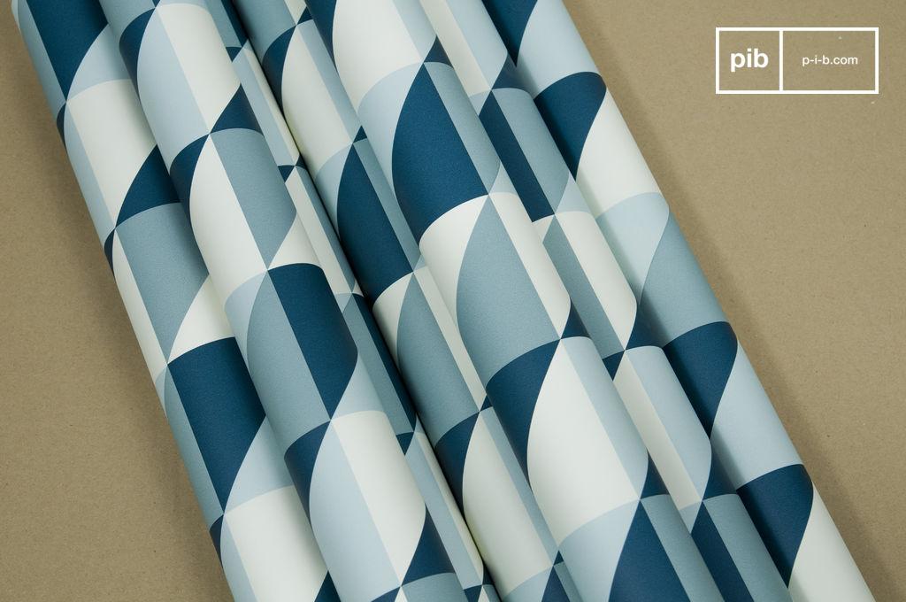 papier peint remix papier peint au motif turquoise pib. Black Bedroom Furniture Sets. Home Design Ideas