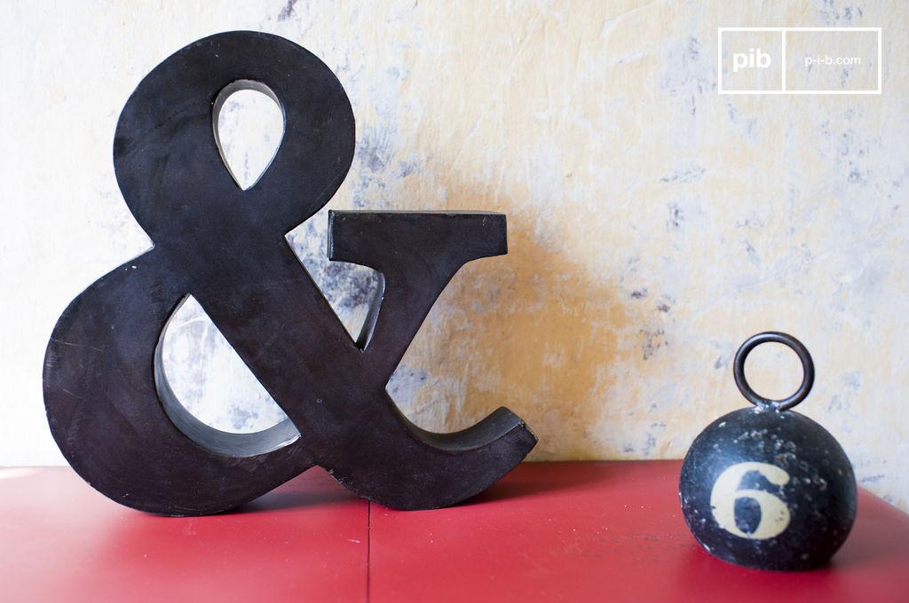 petite esperluette petite lettre en m tal pib. Black Bedroom Furniture Sets. Home Design Ideas
