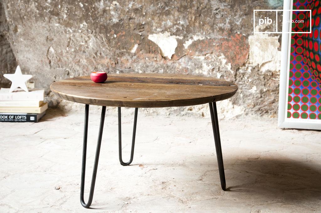 petite table basse club plateau de bois noble pib. Black Bedroom Furniture Sets. Home Design Ideas