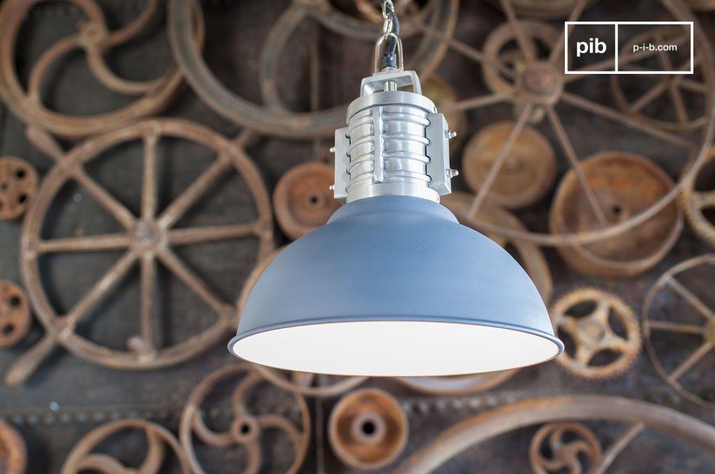 suspension industrielle friedler finition bleue mate pib. Black Bedroom Furniture Sets. Home Design Ideas