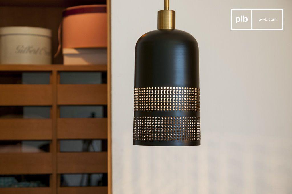 suspension noire johanna lampe design sobre et graphique. Black Bedroom Furniture Sets. Home Design Ideas