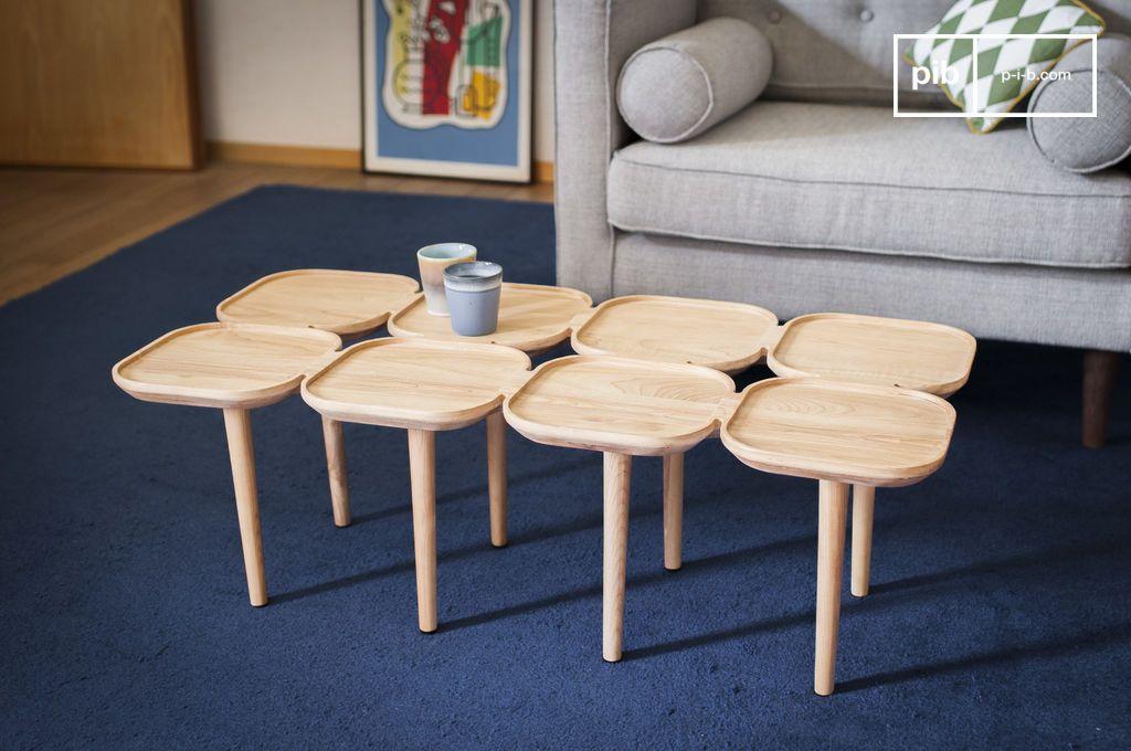 table basse originale en bois massif k dri pib. Black Bedroom Furniture Sets. Home Design Ideas