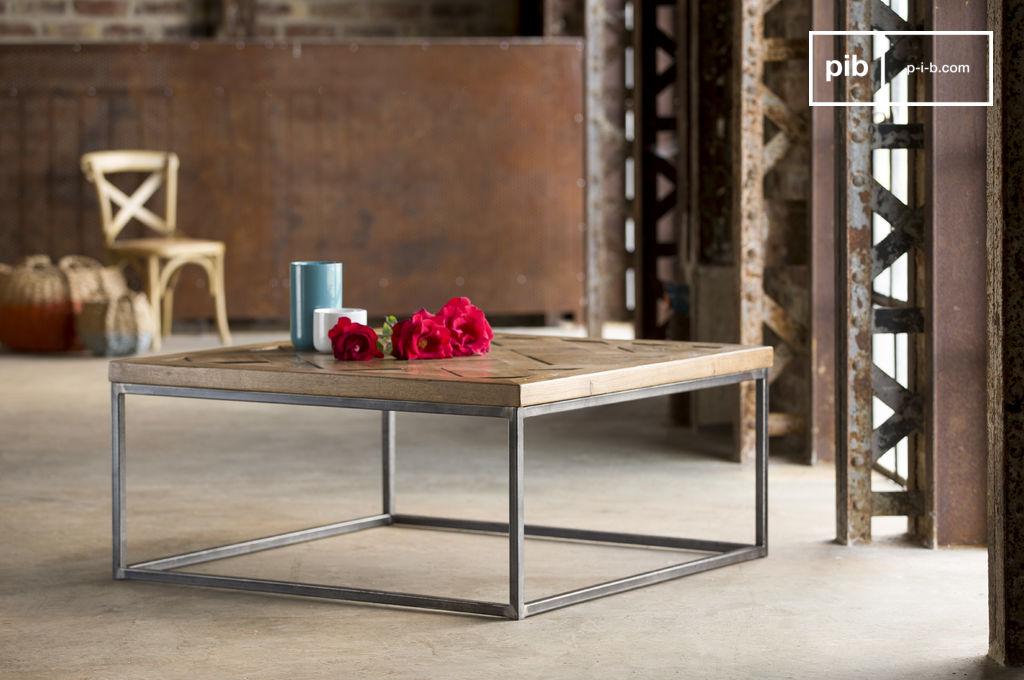 table basse queens parquet en ch ne pib. Black Bedroom Furniture Sets. Home Design Ideas