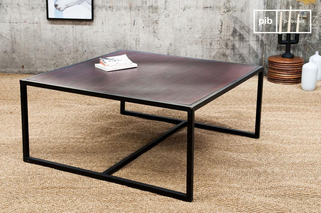 table basse m tal smoke table basse en bois et m tal pib. Black Bedroom Furniture Sets. Home Design Ideas