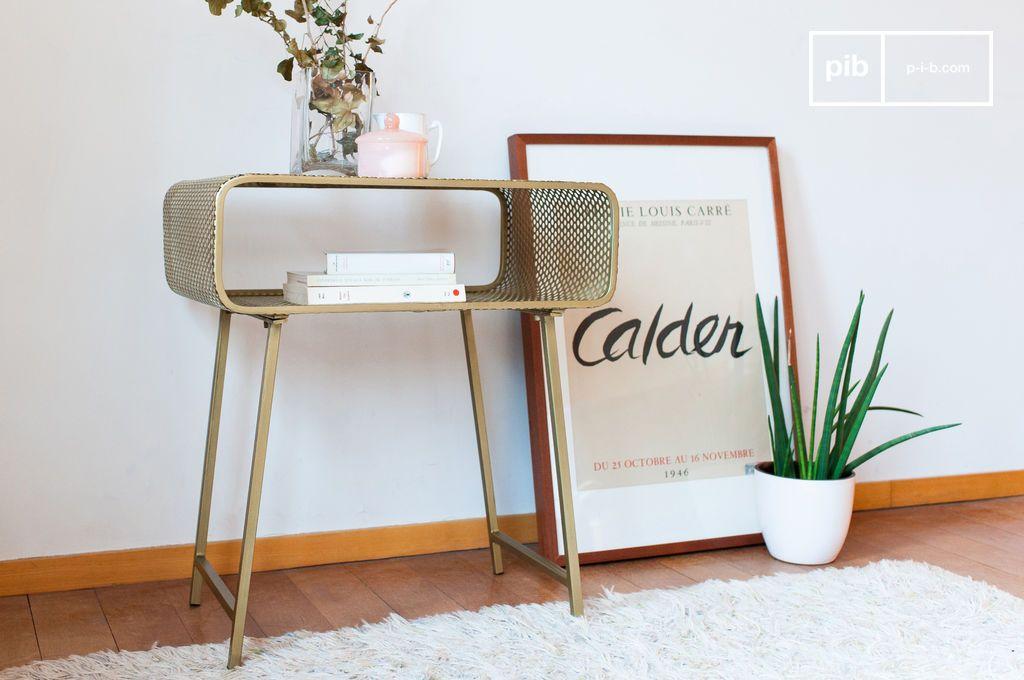 table d 39 appoint dor e en m tal poin onn enni pib. Black Bedroom Furniture Sets. Home Design Ideas