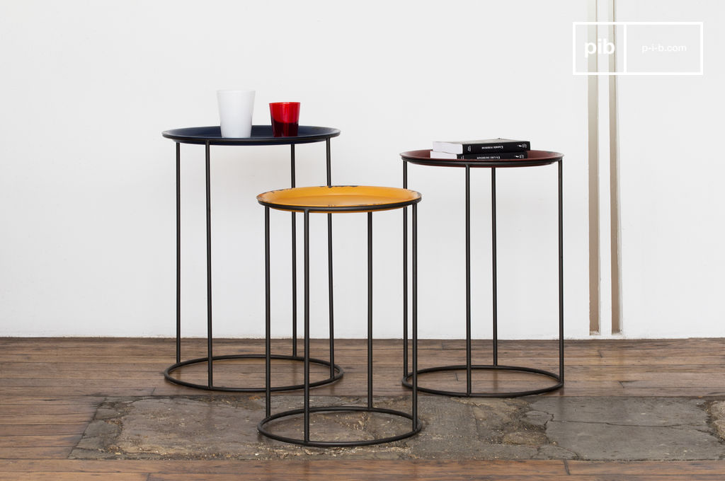 table gigogne tricolore conception 100 m tal haute en pib. Black Bedroom Furniture Sets. Home Design Ideas