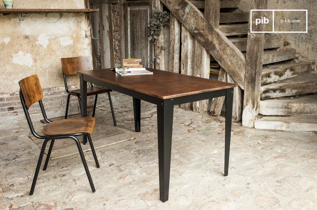 table industrielle doinel - pour votre salle à manger   pib