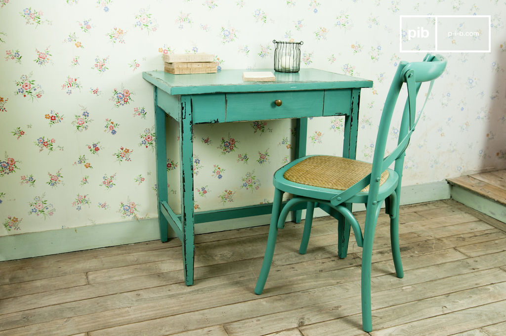 table lila turquoise bureau ou table d 39 appoint une pib. Black Bedroom Furniture Sets. Home Design Ideas