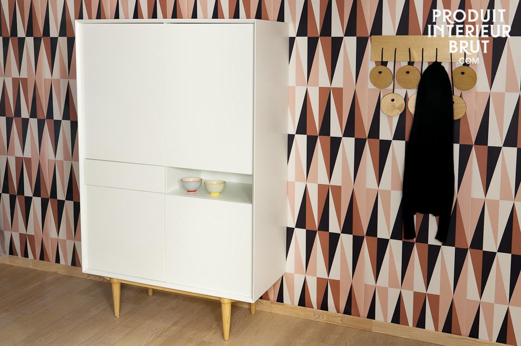 armoire en bois fjord un meuble de rangement lumineux dans un esprit scandinave. Black Bedroom Furniture Sets. Home Design Ideas