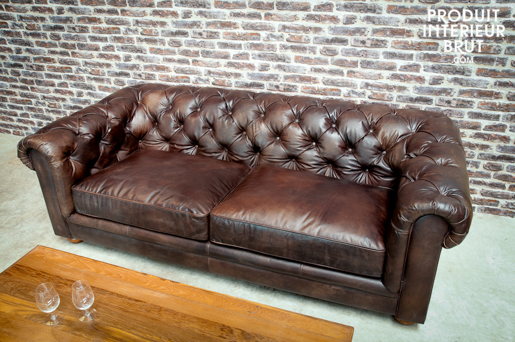 Canap chesterfield canap dark chesterfild en cuir 3 - Canape chesterfield but ...