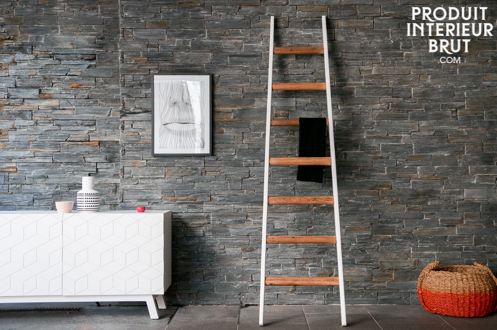 chelle d corative v lli une chelle 100 en bois pour. Black Bedroom Furniture Sets. Home Design Ideas