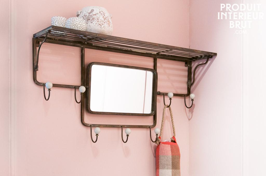 Etag Re Crochets Et Miroir Orientable Miroir Design